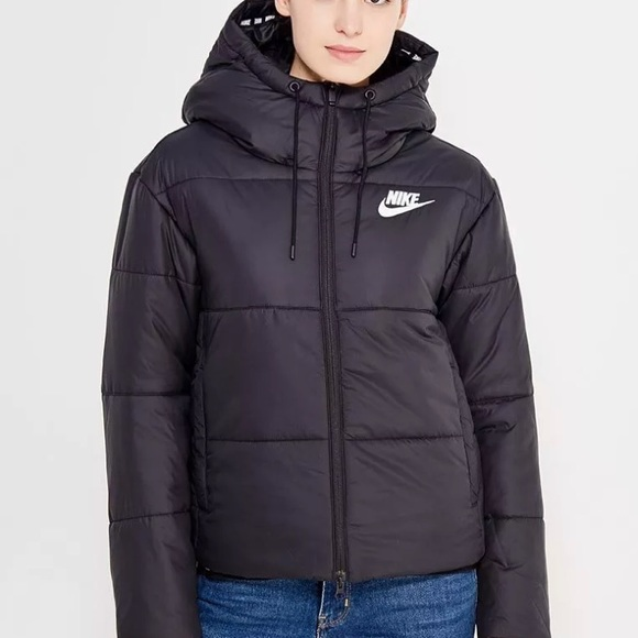 Nike Jackets Coats New Women Thermore Black Winter Jacket Sz L